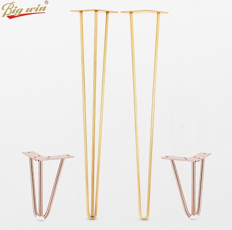 coffee table rose gold steel metal hairpin table legs